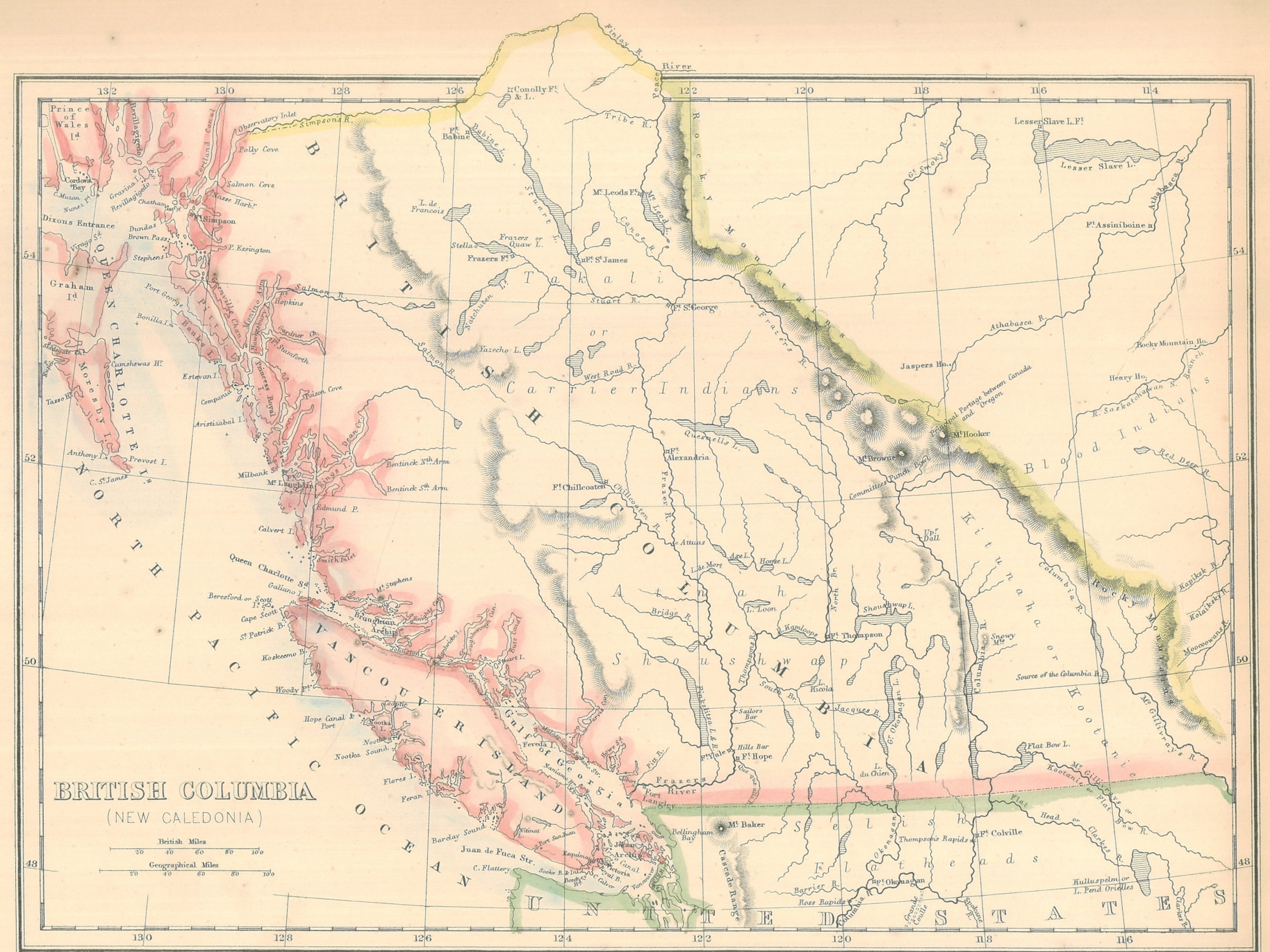 Map Of Canada 60th Parallel.Gary Little First Bc Map Holywell Properties